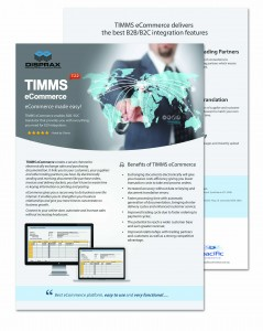 Brochure Disprax TIMMS eCommerce