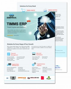 Brochure Disprax TIMMS ERP